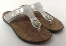 Orthaheel Honey White Thong Sandals Adjustable straps Arch Support Size 8 (k)
