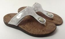 Orthaheel Honey White Thong Sandals Adjustable straps Arch Support