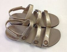 Vionic Orthaheel Cathy Gold Sandals w/ Adjustable Straps Arch Support (M)