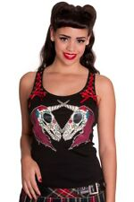 Hell Bunny Unicorn Skull Corset Tank Top Alternative Sugar Skull Gothic Singlet
