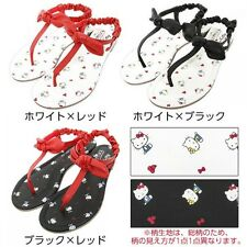 Hello Kitty Women Flat Sandals Slippers Shoes Ribbon Sanrio from Japan T3582
