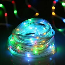 Solar String Lights 33ft 100 LED Solar Rope Light Xmas Party Wedding Multi-Color