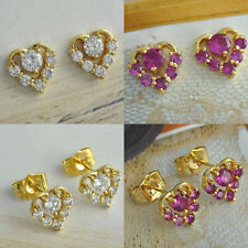 fashion Crystal earrings free shipping womens statement heart cute stud earrings