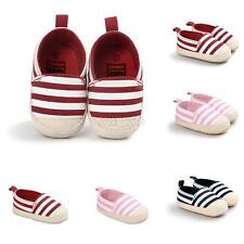 Baby Striped Shoes Boy Girl Soft Sole Crib Shoes Footwear Casual Canvas Shoes