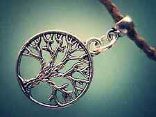 Tree of Life Pendant Necklace, Silver Zinc Pewter, Natural Hemp Necklace, USA