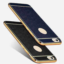 Luxury Plating Silicone Bumper Shockproof Leather Case Cover for iPhone6 6s Plus
