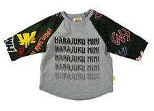 NWT HARAJUKU MINI BY GWEN STEFANI TODDLERS ARMY PRINT LONG SLEEVE TEE GREY/OLIVE