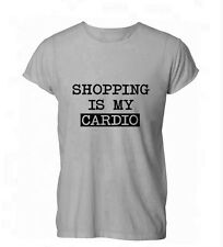 Shopping is My Cardio Funny Shop Mum Gift Womens Mens T-Shirt Grey