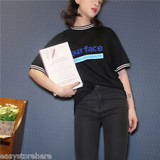 Fashion Leisure Loose Round Contracted Large Size Printing Design Woman T-Shirt