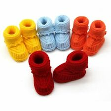 Handmade Newborn Baby Infant Boys Girls Crochet Knit Booties Casual Crib Shoes