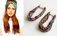 Women Green Blue Boho Bohemian Party Peacock Cross Forever 21 Hair head band