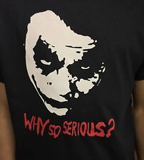 The Joker why so serious t-shirt Heath Ledger 3 colour flock on Mens and Ladies