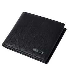 Men's Leather Wallet Bifold Business Slim Credit ID Card Holder Purse Brand