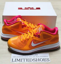 NIKE LEBRON IX 9 LOW FLORIDIAN ORANGE CHERRY 510811-800 miami fireberry red x id