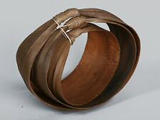 BASKET SHELL MADE OF PALM IN NATURAL BROWN FOR DECORATION WOOD AUTUMN SPRING