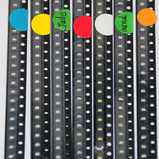 100pcs 0603 SMD LED Diodes Mixed Red/Green/Blue/Yellow/White/Jade-green/Orange