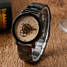 KEVIN Stainless Steel Band Strap Gear Round Dial Women Analog Quartz Wrist Watch