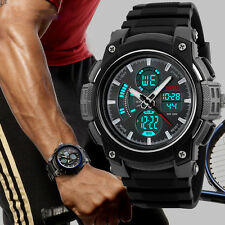 Fashion Mens Military Dual Time Display Digital Watch Diving Sport Wrist Watches