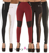Women Sexy High Waist Stretchy Trousers Girls Slim Fit Leggings Pants Size 6-14