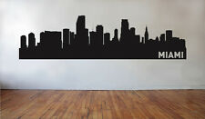 Miami Florida City Skyline Wall Decal - Silhouette Wall Sticker - Home Decor Art