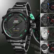 OHSEN LED Digital Date Day Alarm Men Quartz Army Military Sport Wrist Watch