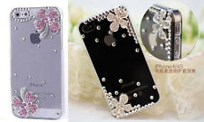 Free Ship Handmade Bling Crystal Rhinestone Diamond Hard Case Cover for iPhone