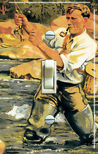 FLY FISHING Vintage Poster Single/Double Switch Plate  ***FREE SHIPPING***
