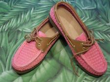 SPERRY TOPSIDER A/O Pink Woven 2 Eye Lace Up Boat Shoe Womens 6.5 NEW
