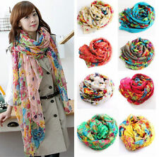 Women Fashion Pretty Long Soft Chiffon Scarf Wrap Shawl Stole Scarves Lot