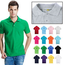 Hot Men's Casual Cotton Sports T Shirt Short Sleeve T Shirt Polo Tee Slim Fit