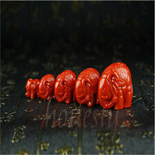 100% Natural Chinese Red Organic Cinnabar Pendant Elephant amulet DIY Pendant