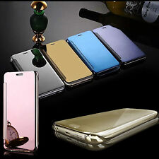 Ultra Thin Luxury Mirror Clear View Flip Hard Case Cover For iPhone 6 6s 7 plus