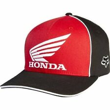 Fox Honda Team Flexfit Cap Hat Black Red Not Flat Peak MX FX58195017