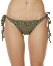New All About Eve Boho Crochet Tie Side Separate Pant Green