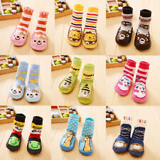 Cartoon Kids Toddler Baby Anti-slip Sock Shoes Boots Slipper Socks 0-24 Months