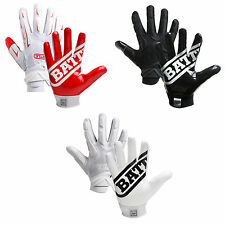 Battle Sports Ultra-Stick Hybrid Receiver Football Gloves Adult Youth (PAIR)