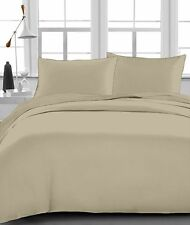 "New Organic Cotton 4 PCs/6 PCs Bed Sheet Set 1000 TC Drop 15"" Taupe Solid"