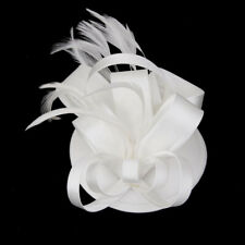 Elegent Womens Fascinator Hat Headband Feather Cocktail Wedding Party Headpiece