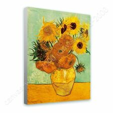CANVAS +GIFT Sunflowers Tournesols Vincent Van Gogh Wall Art Painting Giclee