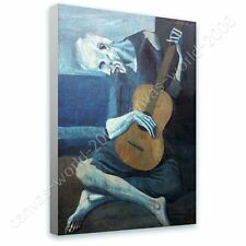 CANVAS +GIFT The Old Guitarist Pablo Picasso Paints Paintings Prints Wall Art