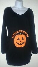 CafePress Pumpkin Maternity T-Shirt Long Sleeve Size M,L