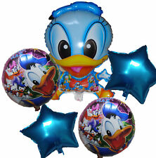5PCES BLUE DONALD DUCK BALLOON BOY THEME MICKEY MOUSE BIRTHDAY PARTY SUPPLIES