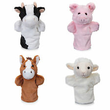 1 2 or 4 Farm Animal Hand Puppet Barnyard Animals Lamb Pony Horse Pig or Cow