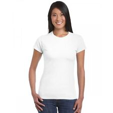 Ladies Fitted 100% cotton Ring-Spun Soft Style T-Shirt  by GILDAN Style 6400L