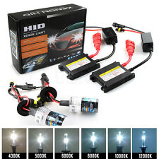 55W HID Xenon Conversion Kit Headlight Bulbs Metal Ballasts Hi/Lo Beam Light 12V