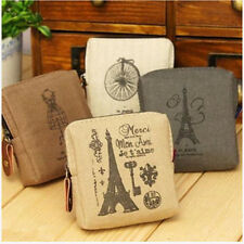 Ladies Girls Vintage Retro Lovely Canvas Coin Bag Wallet Card Case Purse Bags