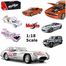 MAISTO 1:18 Model Cars Corvette Mustang Pink Cadillac Jeep Merceded HIGH DETAIL