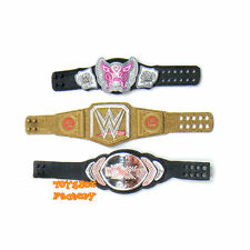 2x WWE World Heavyweight Championship Divas Women Wrestling Mini Belt Toy Figure