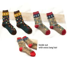 2 Pairs Womens Thicken Inside Long Hair Winter Thermal Warm Boot Socks Size 5-8