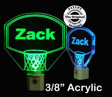Personalized  Basketball Hoop LED Night Light, Kids Lamp
